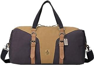 Troop London TRP0432 Heritage Reisetasche aus Segeltuch und Leder, Reisetasche, Turnbeutel