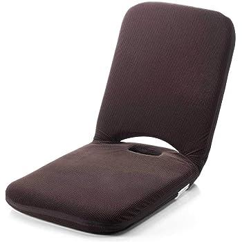 サンワダイレクト 折りたたみ座椅子 こたつ座椅子 マイクロファイバー 14段階リクライニング 持ち手付き ブラウン 150-SNCF003BR