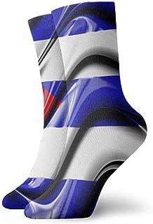 OUYouDeFangA, OUYouDeFangA - Calcetines Cortos clásicos de algodón con la Bandera de Cuba para Adultos, para Yoga, Senderismo, Ciclismo, Correr, fútbol