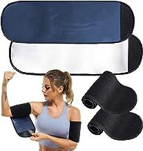 POTUANOT 2 paar Sauna Arm Zweetbanden, Arm Trimmers voor Vrouwen, Afslanken Compressie Mouw, Verstelbare Arm Trainer Mouwe...