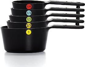 OXO Good Grips Plastic Measuring Cups, 6-Piece, Black (11110901)