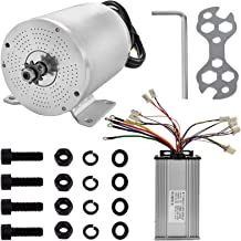 Mophorn Electric Brushless Motor Controller 60V DC 2000 Watt with 11 Tooth Sprocket and Mounting Bracket for Go Karts Scooters & E-Bike (2kw 60v with Controller)