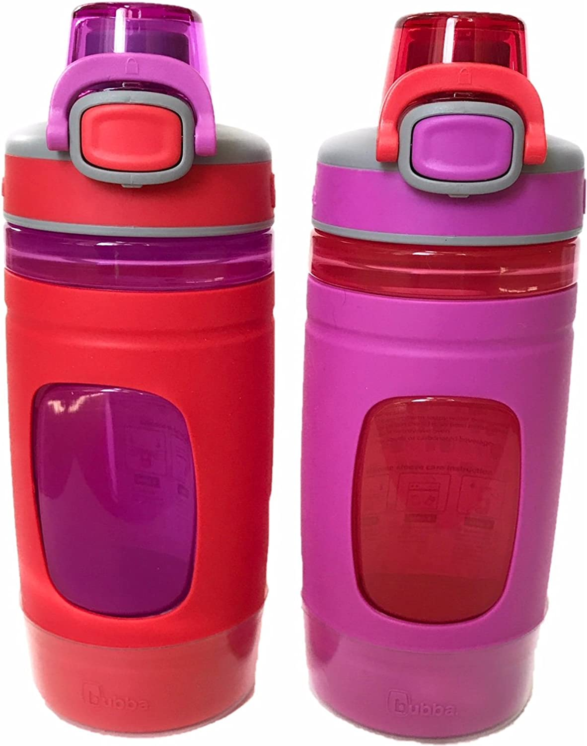 Bubba Flo Kids Water Bottle with Silicone Sleeve, 16 oz. (Pack of 2)