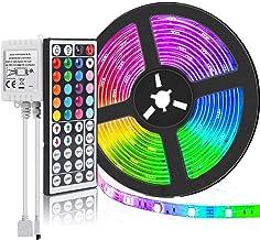 Led Strip Lights, JR INTL 16.4ft/5M RGB LED Light Strip 5050 LED Tape Lights, Color Changing LED Strip Lights with Remote ...