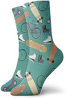 Vintage Bike Pattern Socks Colorful Fun Sport Running Calcetines for Men & Women