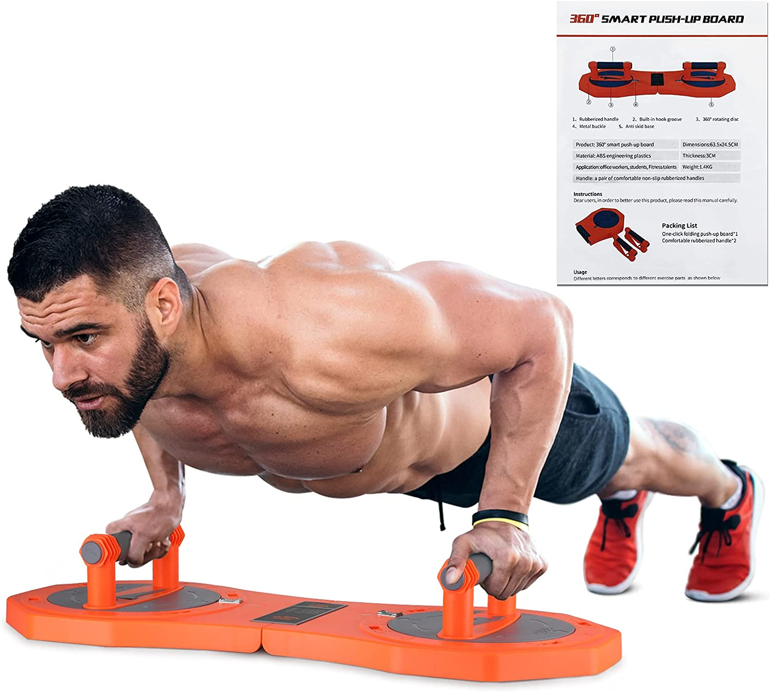Max 78% OFF O-CONN 360° Rotatable Push Up Board -The Equi Workout Perfect Genuine