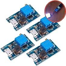 Icstation MT3608 Mico USB DC 2V-24V to 5V-28V 2A Boost Converter, Voltage Regulator, Booster, Step Up Power Supply Module 3.3V 5V 6V 9V 12V to 5V 6V 9V 12V 24V (Pack of 4)
