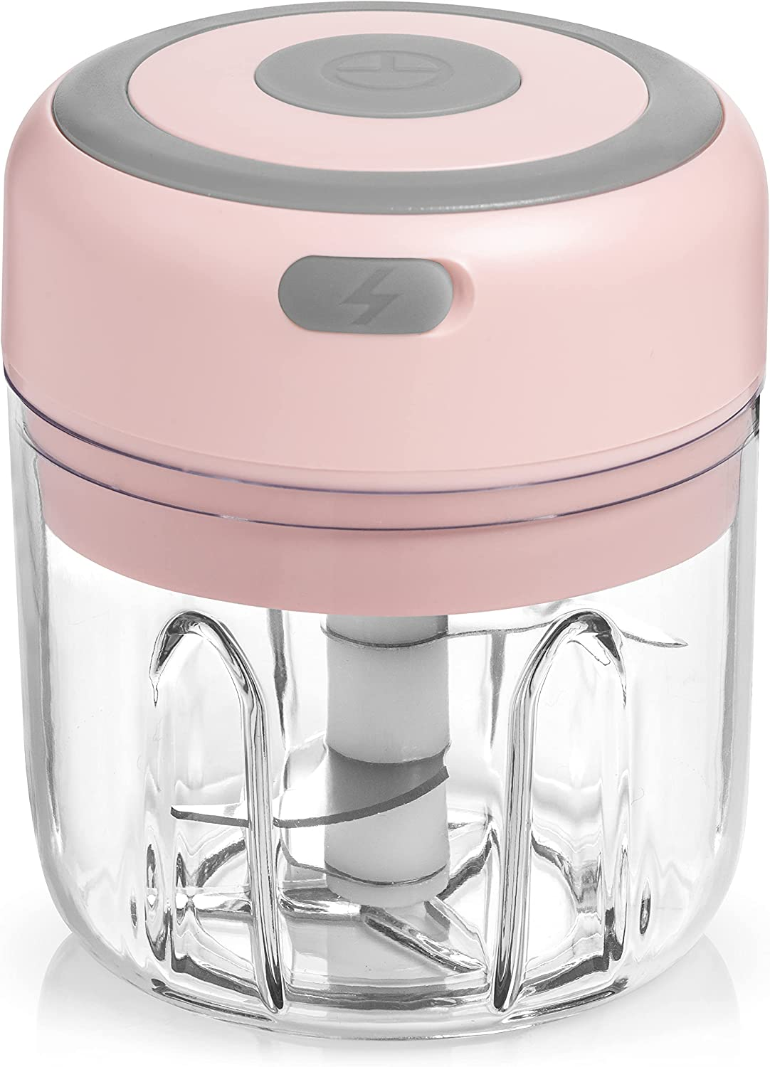 Electric Garlic Chopper - Mini Food Chopper (250 ML) - Kitchen Mini Garlic Chopper, Mincer, Crusher, Grinder, Slicer - Hand Kitchen Dicers for Ginger, Onion, Chili, Spices, Veggies
