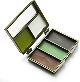garden mile® 5 Colour Camouflage Face Paint Compact Cartridge Pallet with Mirror | Army Cadet Military Camo Field Paint Ar...