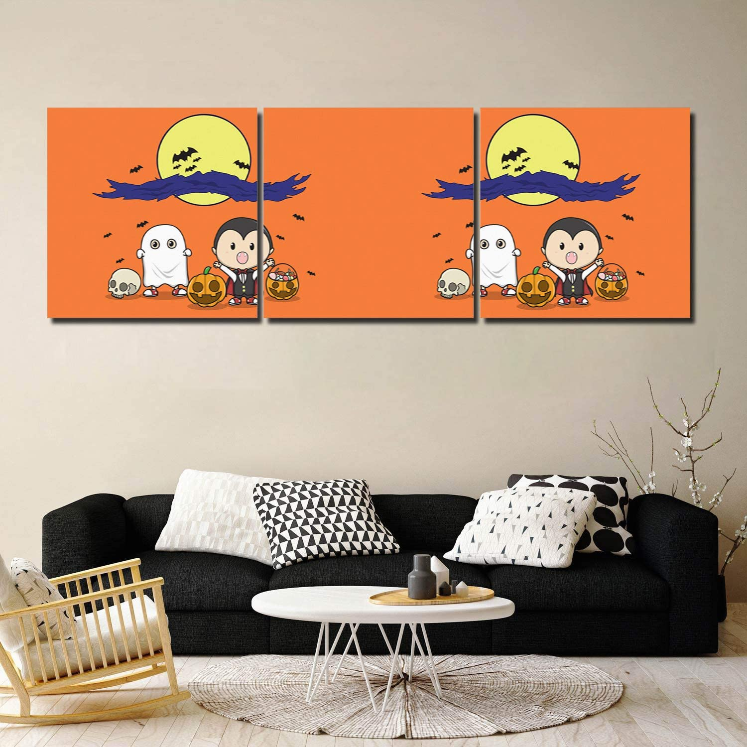 Framed Max 58% OFF Wall Art Halloween 3 Painting Canvas Panel New mail order Prints Artwork