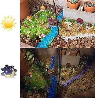 Solar 100 Pcs Colorful Glowing Stones, Glowing Garden Resin Pebbles,Garden Decor Glowing Stones Luminous Rocks for Outdoor Walkway Driveway,Luminous Stones for Plants Pot, Fish Tank,Swimming Pool etc