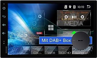 Tristan Auron BT2D7018A Android 10 Autoradio mit Navi + DAB+ Box I 7' Touchscreen GPS Bluetooth Freisprechfunktion I 32GB ROM I WiFi USB SD I OBD 2 2 DIN