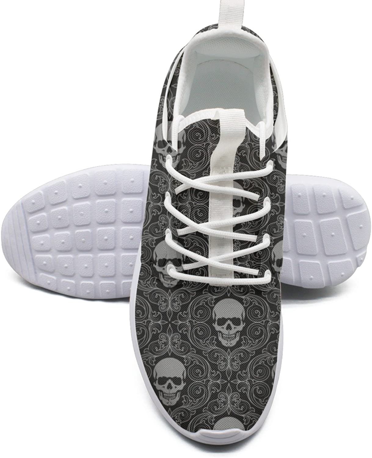 Skull Decal Womans Net Sports Running shoes Funny Cute