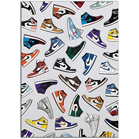 YGYT Artwork Posters Picture for Michael AJ History Sneaker Air Print Nordic Fashion Shoes Painting Canvas Modular Wall Art No Frame Home Decor