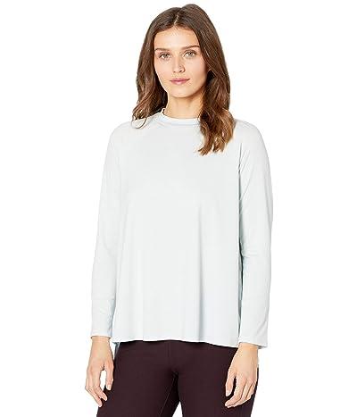 Eileen Fisher Petite Crew Neck Raglan Sleeve Shirt (Clearwater) Women