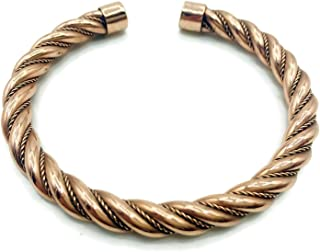 Handmade Traditional Design Vintage Style Twisted Copper Bracelet. 100% Pure Raw Copper Bracelet.