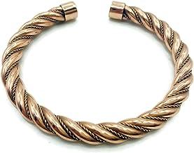 Healing Lama Handmade Traditional Design Vintage Style Twisted Copper Bracelet. 100% Pure Raw Copper Bracelet.