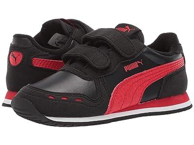 Puma Kids Cabana Racer SL Velcro (Toddler) (Puma Black/High Risk Red/Puma White) Boys Shoes