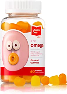Chapter Omega Gummies, Great Tasting Chewable Omega 3 Gummies for Kids, Certified Kosher (60 Flavored Gummies)
