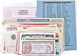 100 Different World Banknotes,Crisp Uncirculated - Rare limited Suitable for collectors