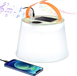 RUNACC Solar Camping Lantern Rechargeable - Inflatable...
