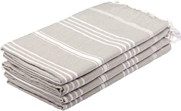 Clotho Towels Turkish Hand Towel Set of 4 - (Silver Gray) for Decorative Bathroom