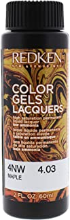 Redken Color Gels Lacquers Hair Color, 4nw Maple, 2 Ounce
