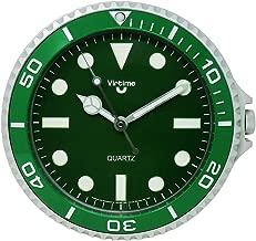 Cucuba® HILARANTE RELOJ DE PARED PARA INTERIORES PARA RESTAURANTES / PUBS / BAR / HOGAR DESIGN ROLEX DIÁMETRO Ø 28CM - IDEA REGALO (Color: Verde)