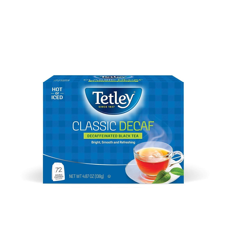 Tetley Classic Blend List price Outstanding Decaf Premium Tea Decaffinated Black