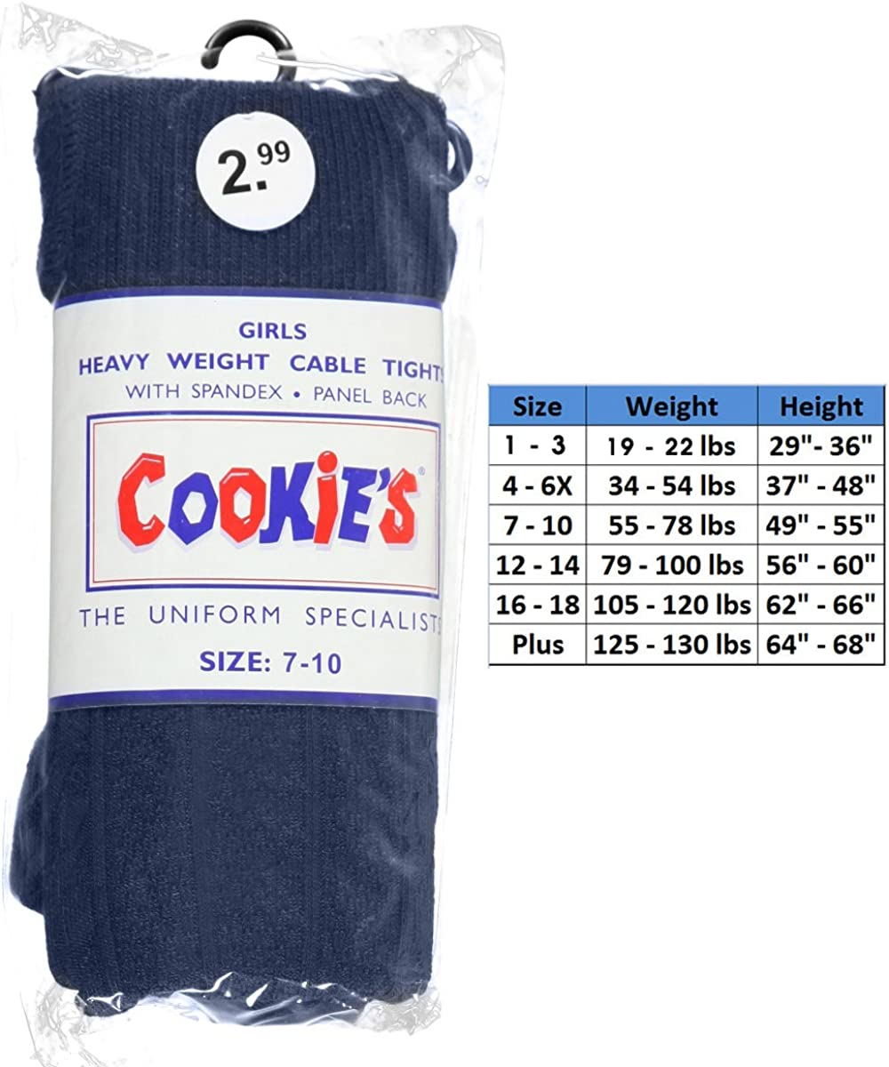 Cookie's Cable Knit Tights - navy, 7 - 10