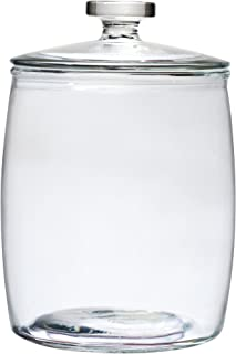 Amici Home, A7CN103R, Arlo Collection Glass Canister Cookie Jar, Food Safe, Push Top Lid and Plastic Gasket, 320 Ounces, Large