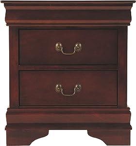 Ashley Furniture Signature Design - Alisdair Nightstand - 2 Drawers - Traditional - Rectangular - Dark Brown