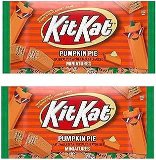 Halloween Candy Kit Kat Harvest Pumpkin Pie Miniatures, 9.7 oz, 2 Pack