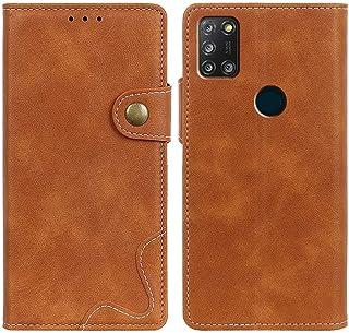 MOONCASE Alcatel 3X (2020) Case, Premium PU Leather Cover Wallet Pouch Flip Case Card Slots Magnetic Closure Mobile Phone ...