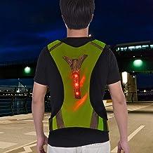 DAUERHAFT Chaleco de Seguridad Chaleco de Noche Reflectante Alta Visibilidad Transpirable para Night Runner