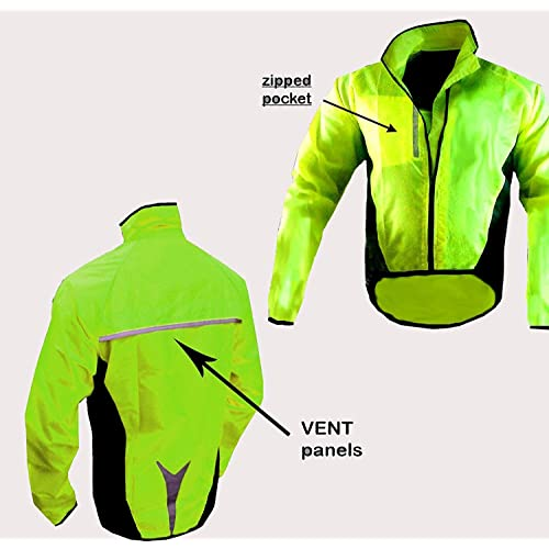 HILTON ENTERPRISES CYCLING JACKET WATERPROOF HIGHLY VISIBLE 3d01020be