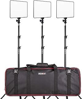 (3本キット)VILTROX VL-200T 超薄パネル型 LEDビデオライト 3* 190cm調整可能なスタンド同梱 3300K-5600K CRI95+ 30W 2500L...