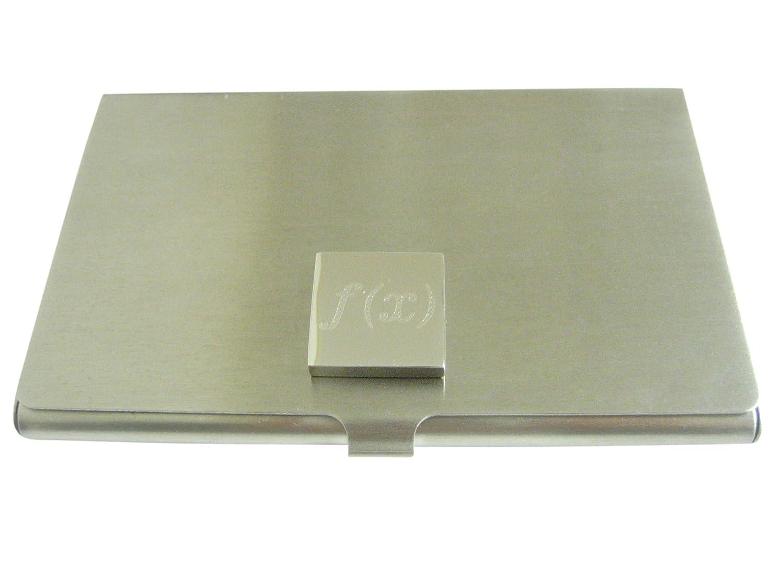 鉄修正スタッフシルバー調エッチング加工の数学的機能 x名刺ホルダー。