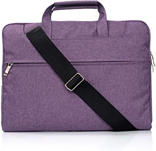 Laptop Bag Portable One Shoulder Handheld Zipper Laptop Bag, for 15.4 inch and Below MacBook, Samsung, Lenovo, Sony, DELL Alienware, CHUWI, ASUS, HP (Black) (Color : Purple)