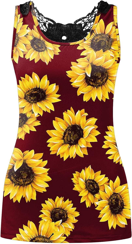 POLLYANNA KEONG Sleeveless Tops for Women Plus Size,Women's V Neck Tank Tops Shirts Casual Summer Tee Tops Blouse Vest