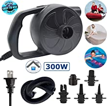 ONG NAMO Electric Air Pump, Portable Quick Air Pump with 3 Nozzles for Air Mattresses Beds Boats Swimming Ring Inflatable Pool Toys 110V AC (300W)