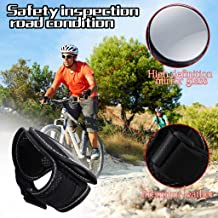 Wrist Wear Bike Mirror Bike Rearview Mirror Portable 360 Degree Adjustable Bicycle Wrist Band Rear View Mirrors Safety Rearview Cyclists Mountain Road Riding Cycling Accessories, Black