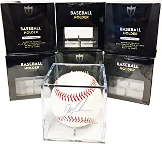 Case of 36 Max Pro Baseball Ultra Clear Square Cube Holders with 98% UV Protection
