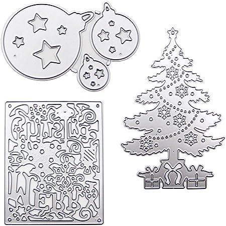 Christmas Accessories Die Cuts,Snowman Snowflake Star Cutting Dies Cuts for Invitation DIY Album Card Making Embossing Scrapbooking Stencils