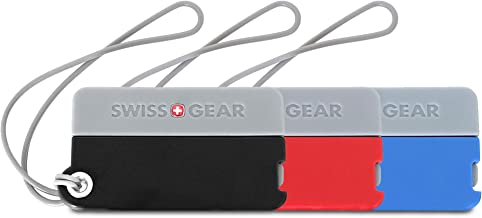 SWISSGEAR Compact Luggage Tags | Durable Travel Accessory | Assorted Color Twin Pack
