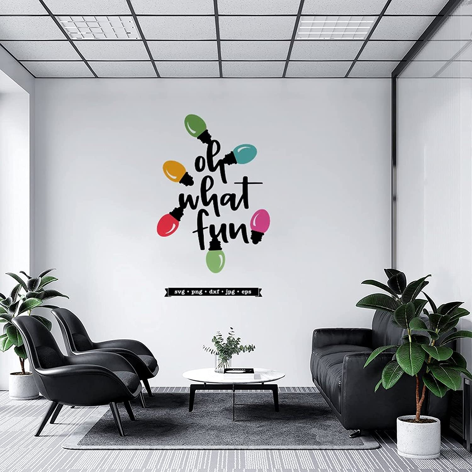 Max 52% free OFF Wall Decal Oh What Fun Mural Sticker for Home Childr