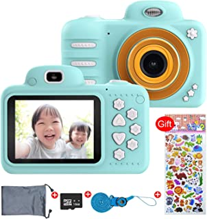 Hacevida Kids Camera,Camera for Kids 1080P HD,2.4 Inches Screen, Shockproof Kids Digital Video Camera, 16GB Memory Card, Good Gift for 4-10 Year Old Girls and Boys Outdoor Travel(Blue)