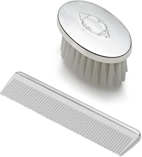 EMPIRE Boys Shield Design Oval Sterling Brush