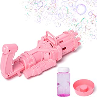 AGRIGLE Bubble Maker Summer Outdoor Cool Toys, Gatling Model Gun Style Automatic Bubble Machine, Electric Motor, Combined ...