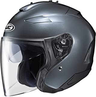 HJC IS-33 II Open-Face Motorcycle Helmet (Anthracite, Large)